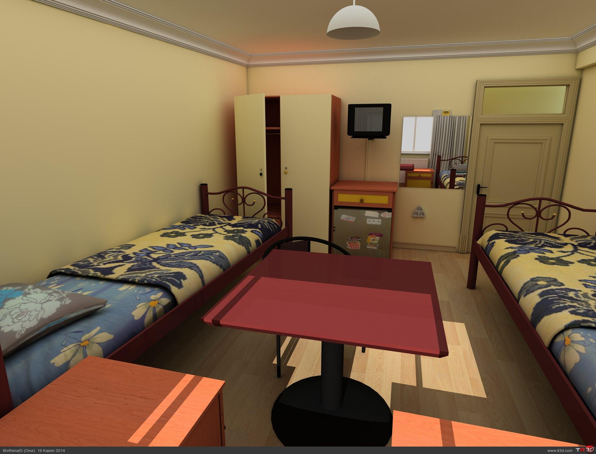 Kaldığım yurdun odası