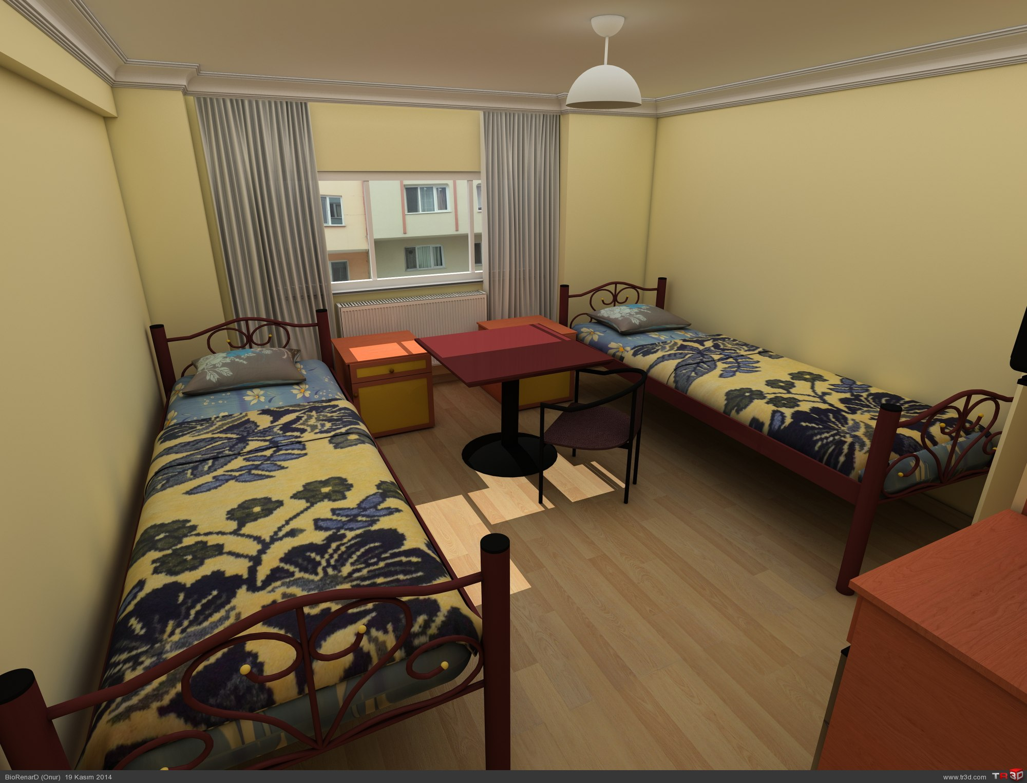 Kaldığım yurdun odası 1