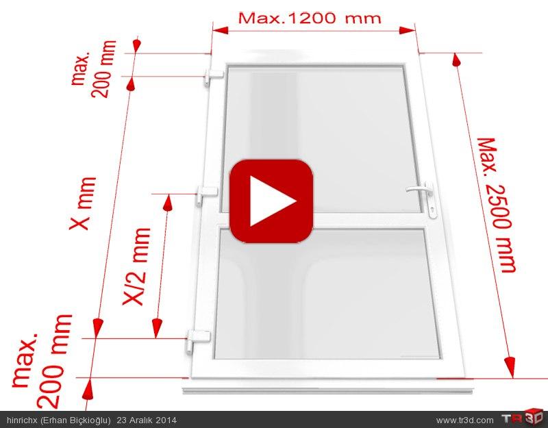 Teknik Animasyon / PVC 3D Ayarlı Menteşe