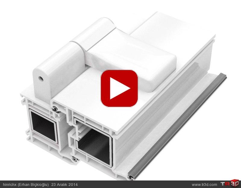 Teknik Animasyon / PVC 3D Ayarlı Menteşe  1
