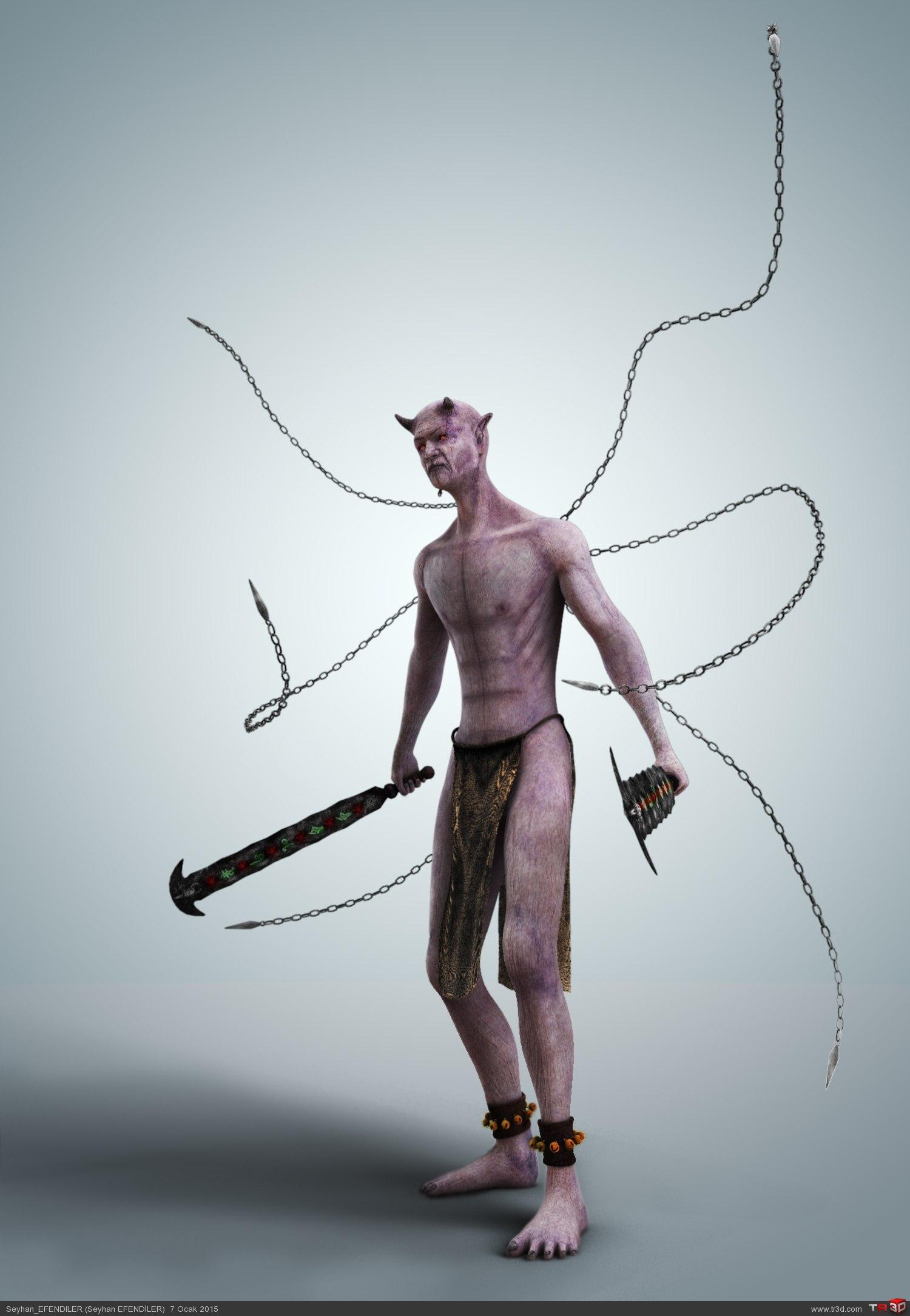 3d demon titfuck naked clip