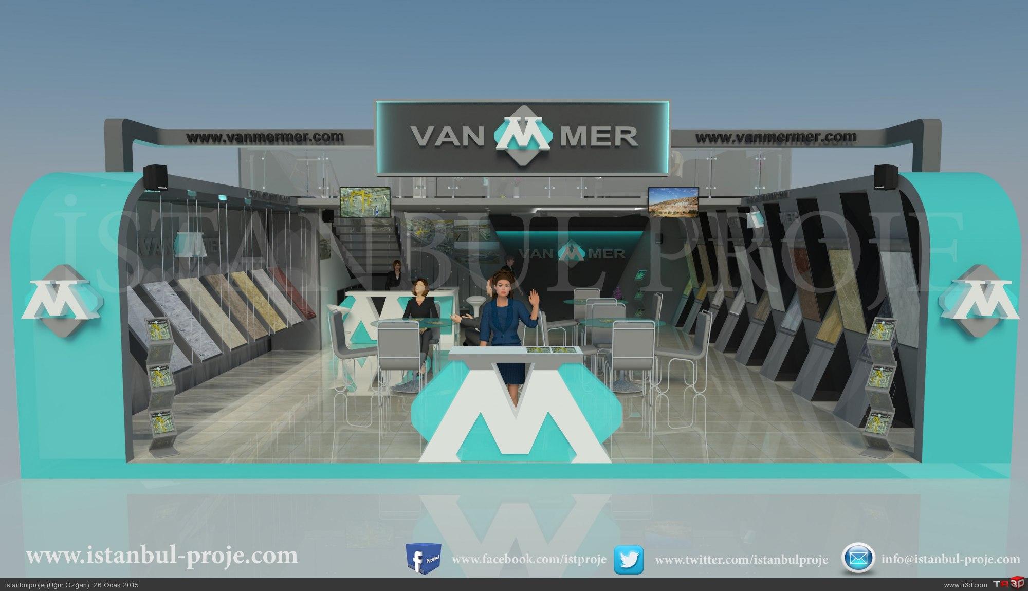 Van Mermer fuar stant tasarımı