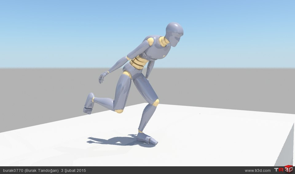 Parkur koşu animasyonu