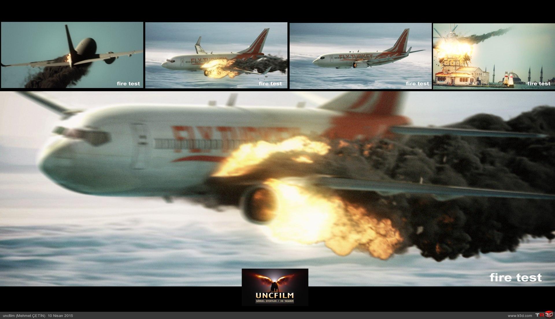 Dizi / Efekt / Uçak Düşme Test