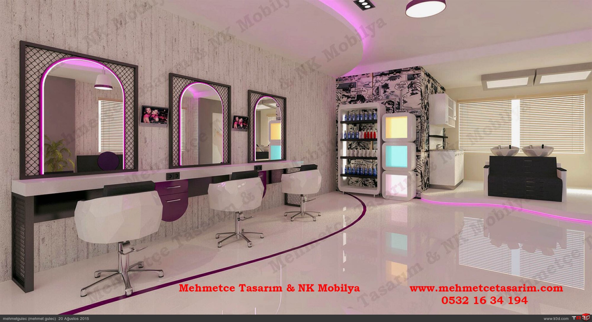 kuaför salonu tasarımları , kuaför salon projeleri , bayan kesim tezgahı , kuaför tezgahlari 1