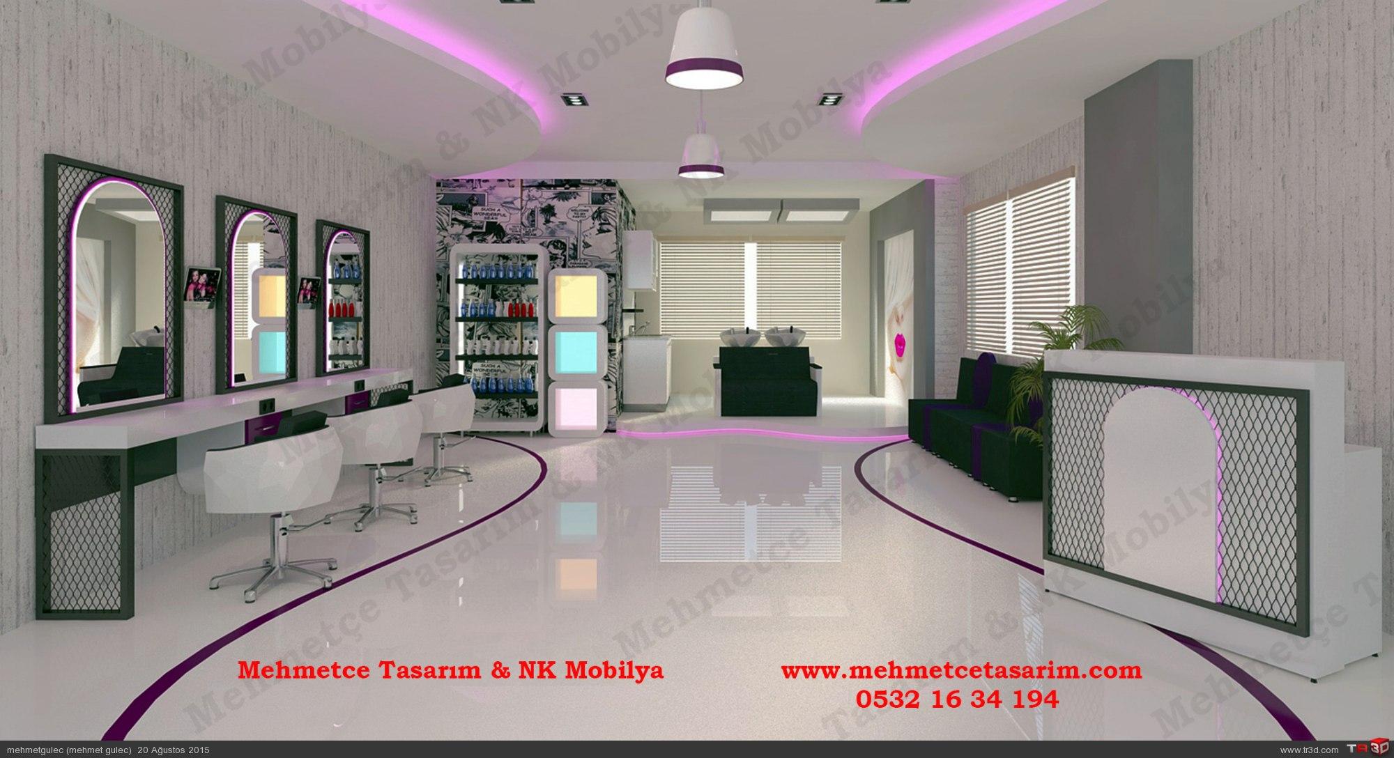 kuaför salonu tasarımları , kuaför salon projeleri , bayan kesim tezgahı , kuaför tezgahlari 2