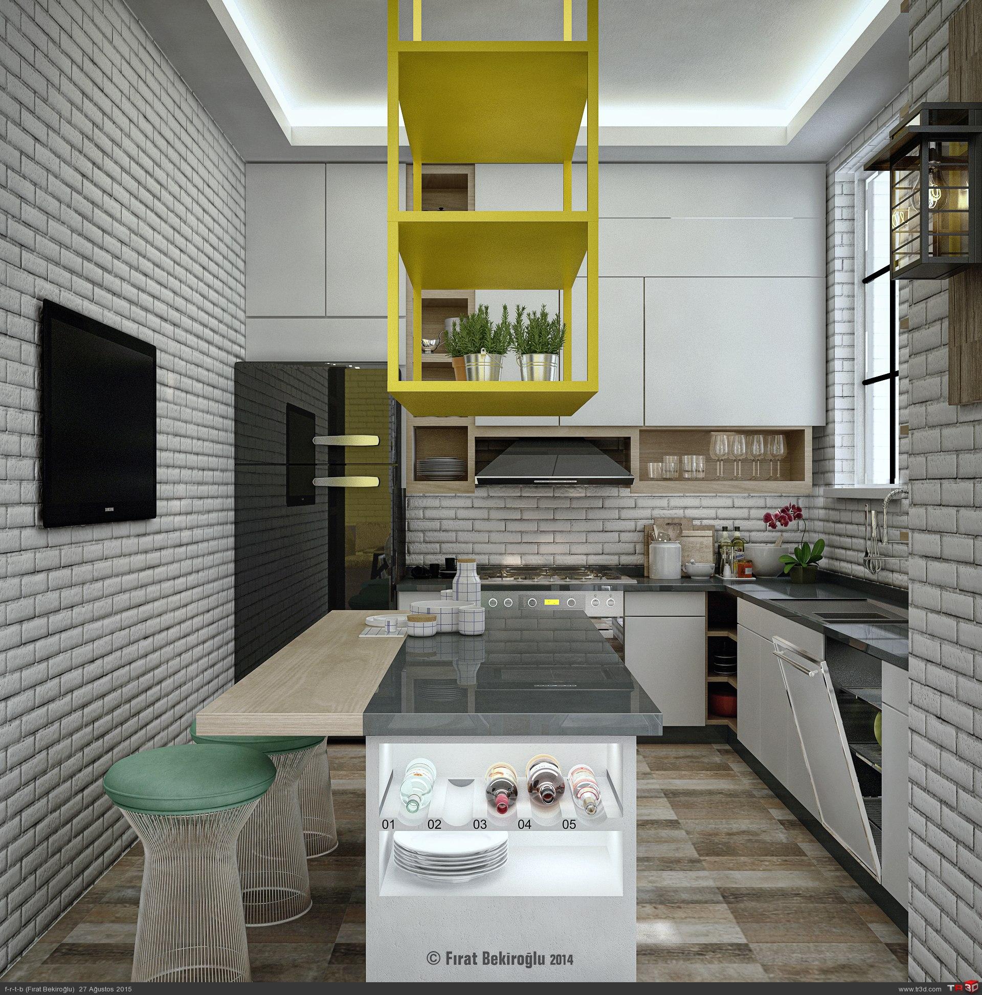Sinpaş İncek Life-Mutfak Tasarımı 1