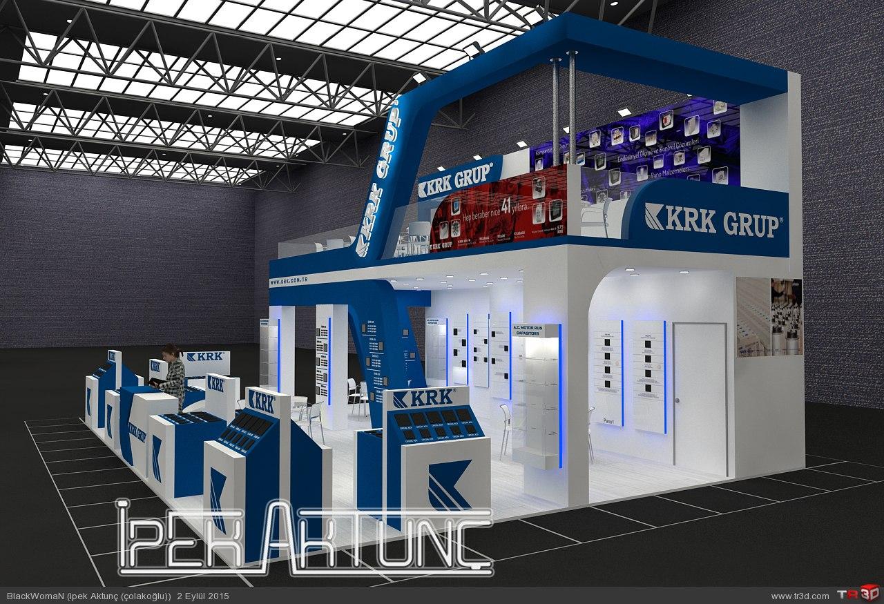 KRK Grup- Win 2 Fuarı Stand Tasarımı 1