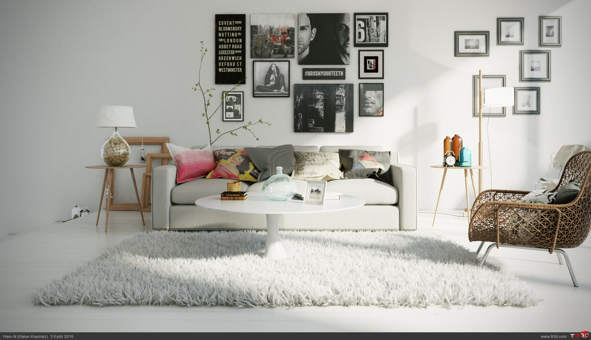 Modern oturma odası 1