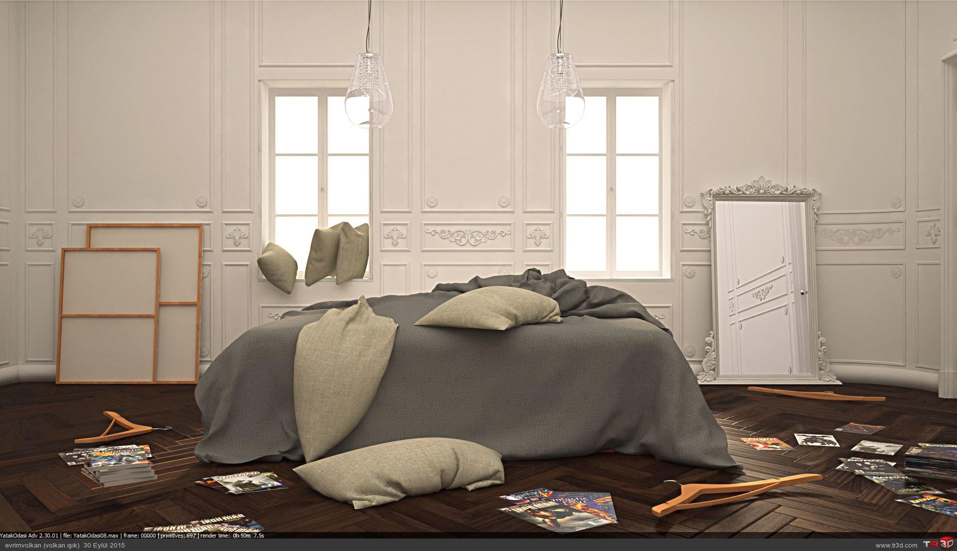 Minimalist yatak odası 1