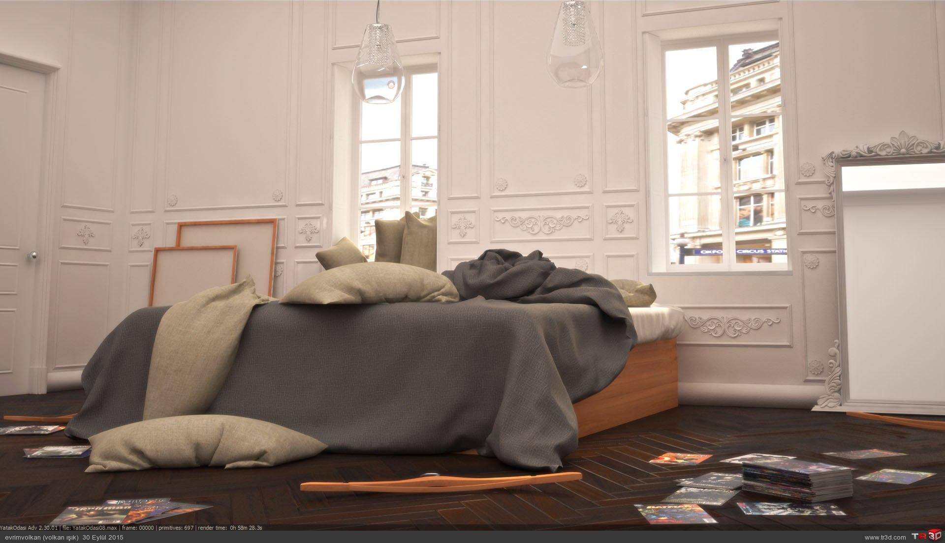 Minimalist yatak odası 3