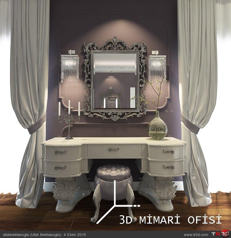 Klasik makyaj masası