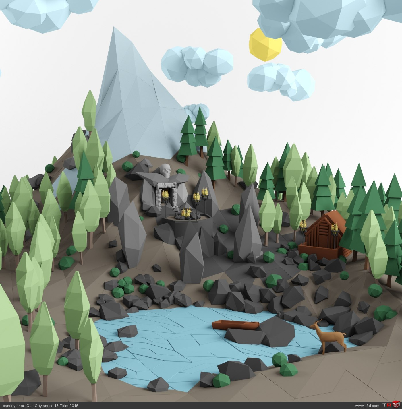 Mountain Temple /// Low Poly 1