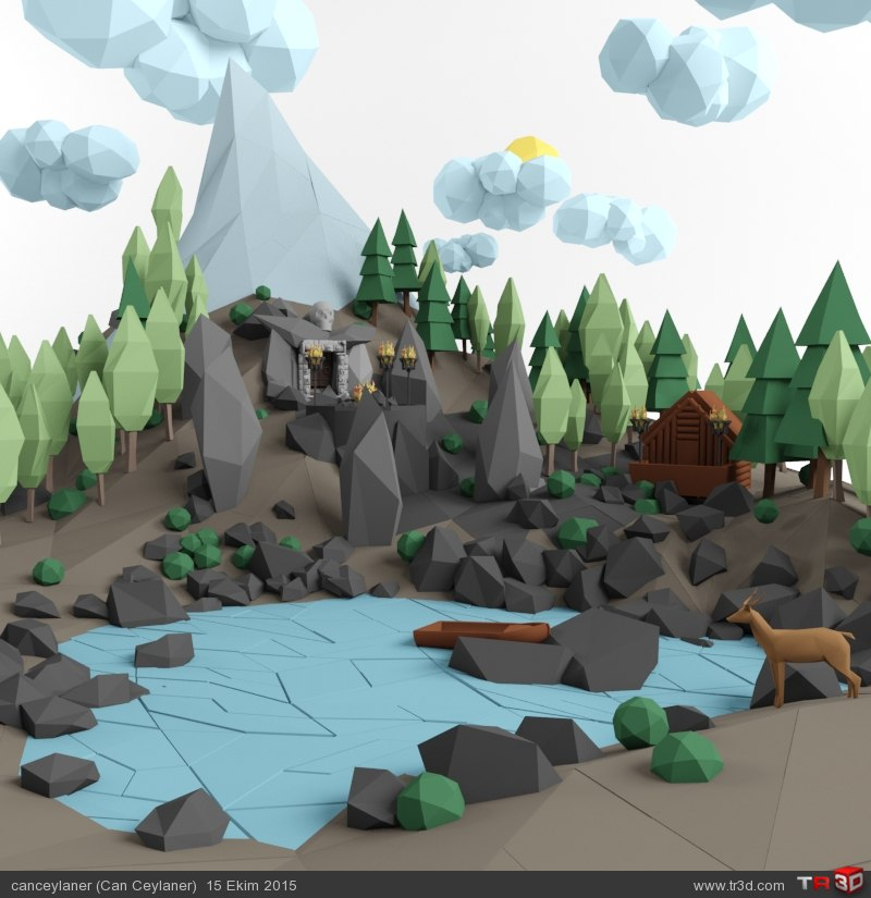Mountain Temple /// Low Poly 2