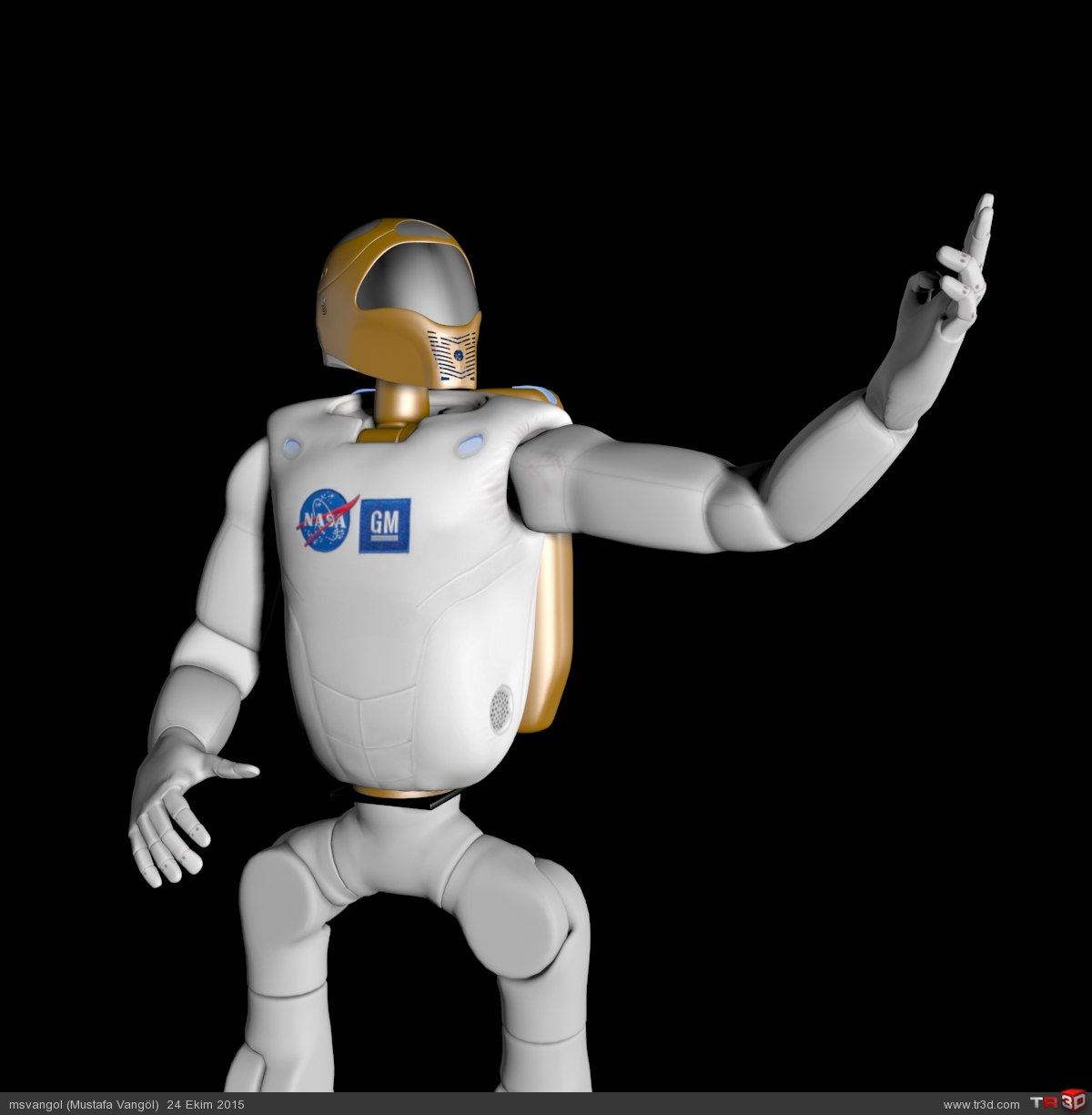NASA ROBONAUT-2 MODEL (R2) 6
