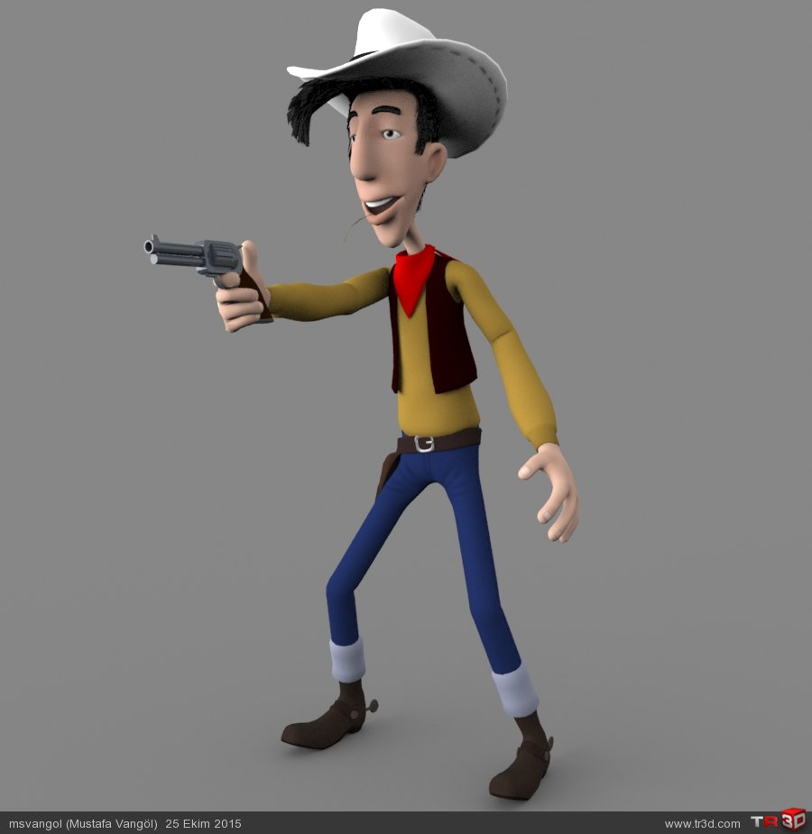 Red Kit (Lucky Luke 3D Model)