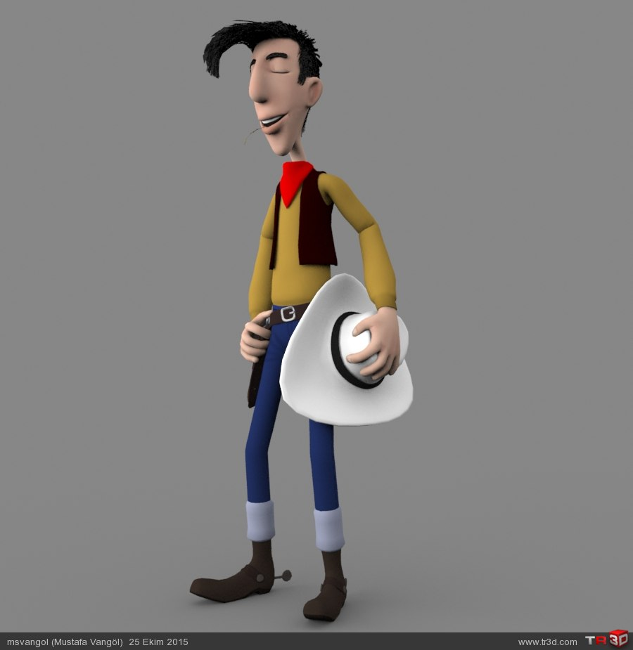 Red Kit (Lucky Luke 3D Model) 4