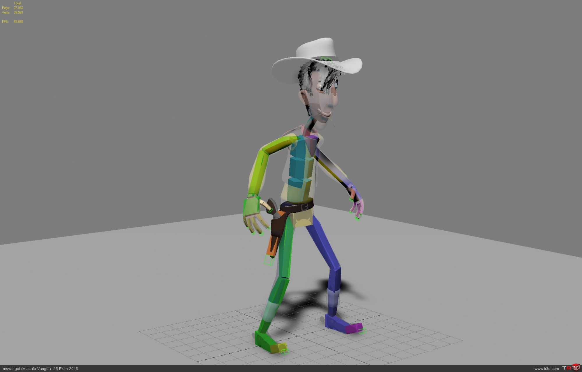 Red Kit (Lucky Luke 3D Model) 6