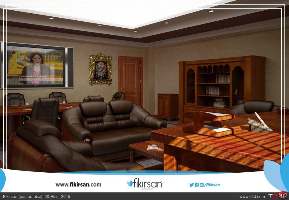 3d Mekan ve Ofis Modellemesi