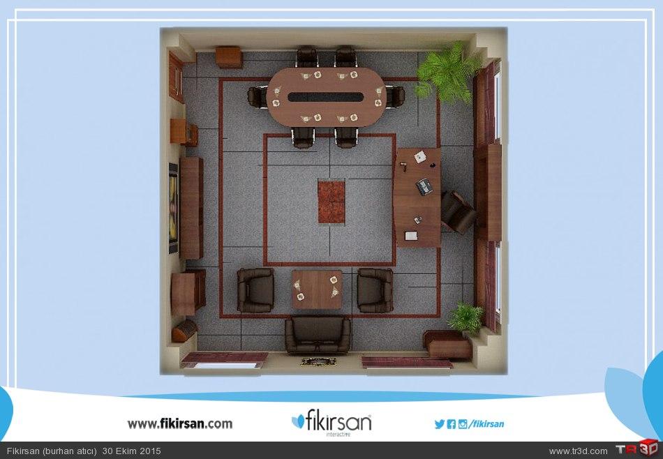 3d Mekan ve Ofis Modellemesi 1