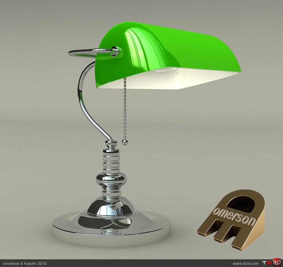 BANKERS LAMP 1