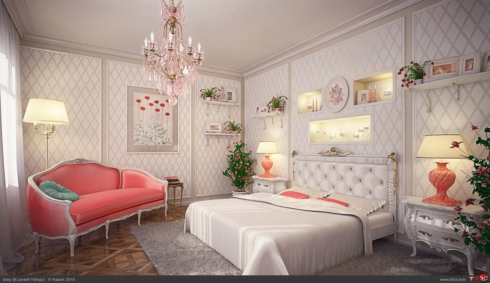 Bedchamber White&Pİnk 1