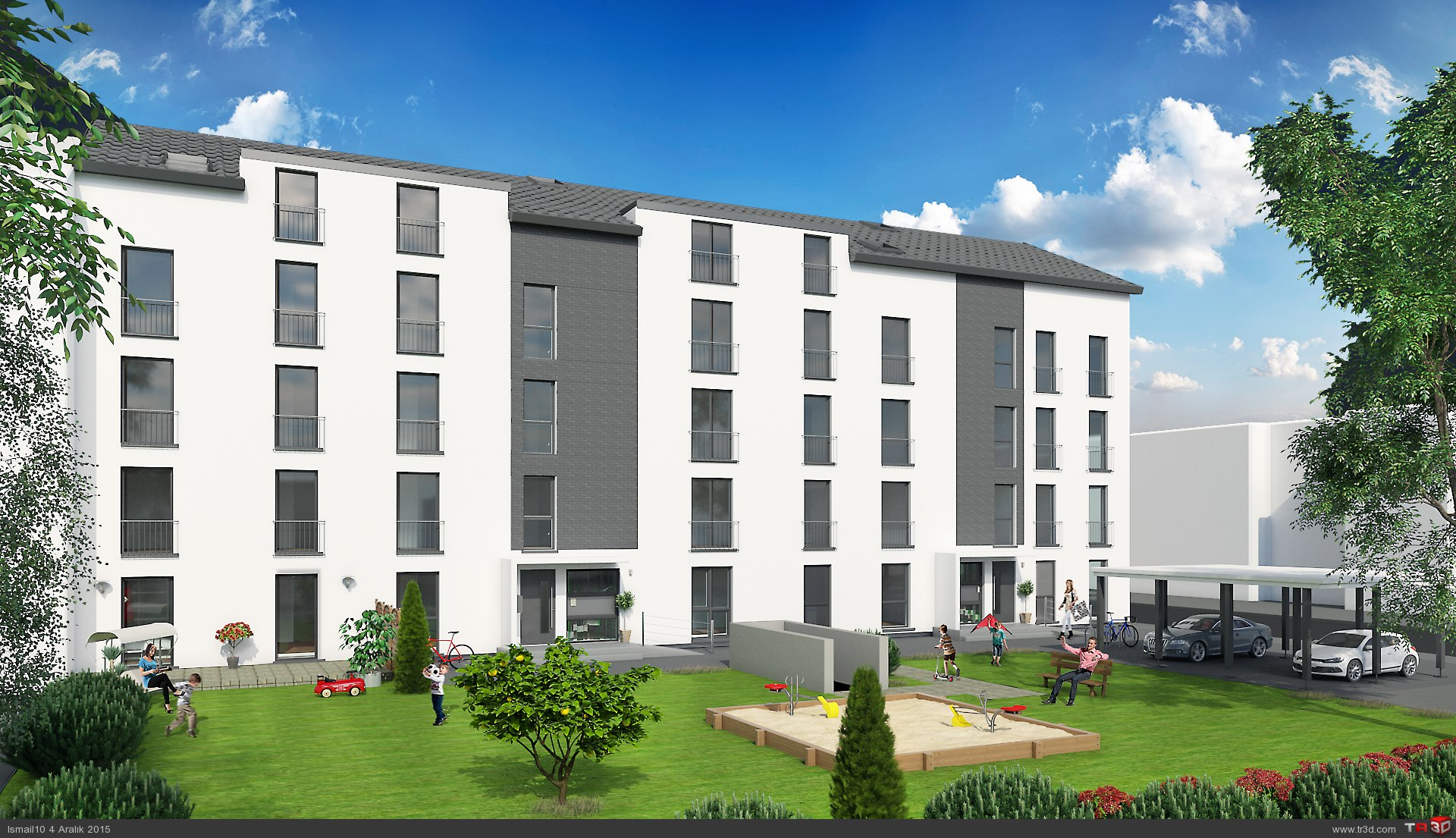 Almanya`da 17 daireli bina