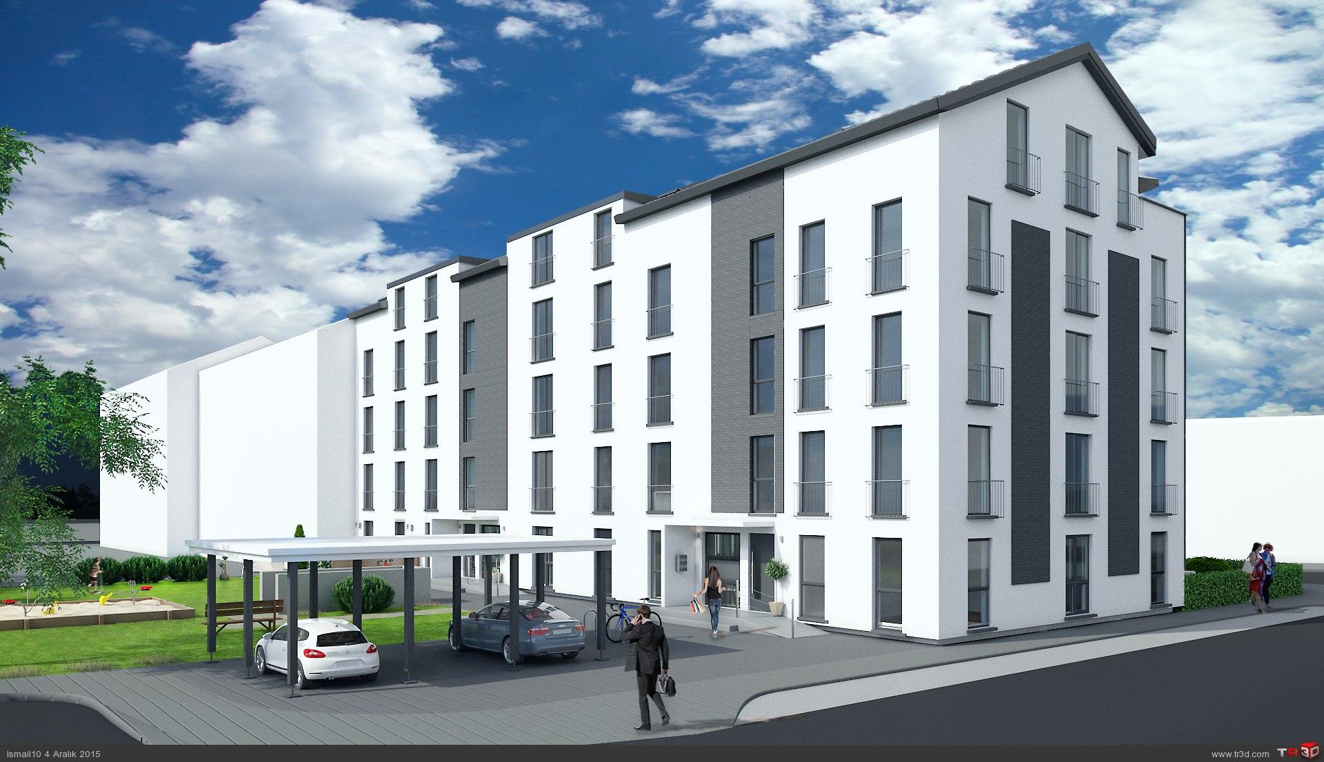 Almanya`da 17 daireli bina 1