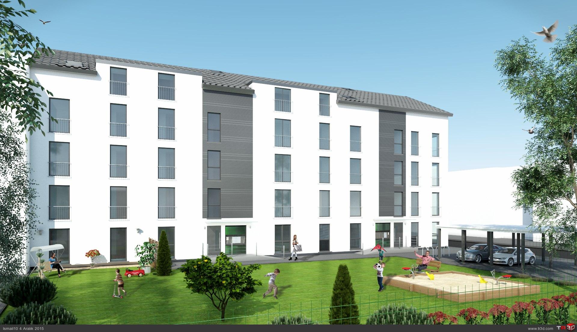 Almanya`da 17 daireli bina 3