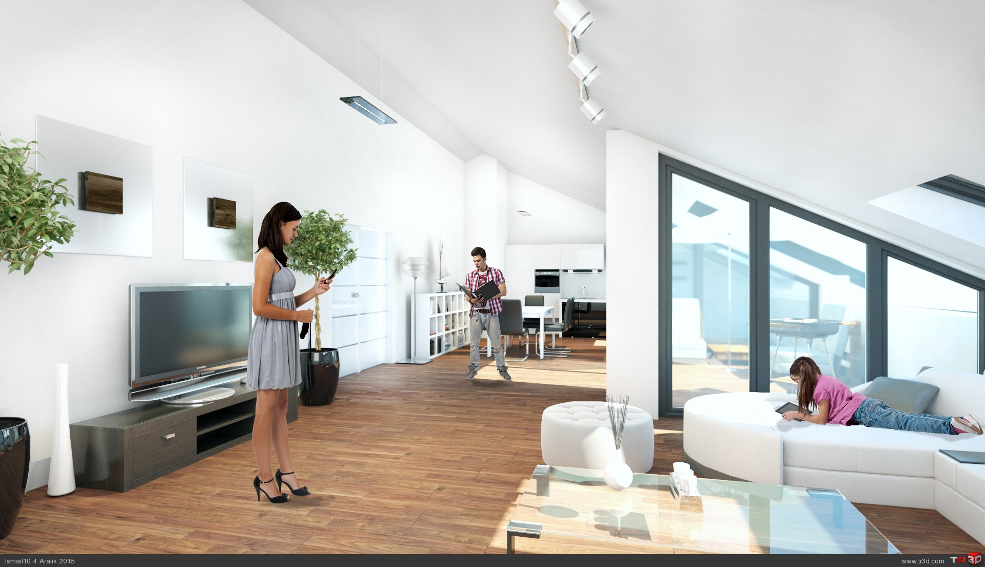 Almanya`da 17 daireli bina - ic mekanlar
