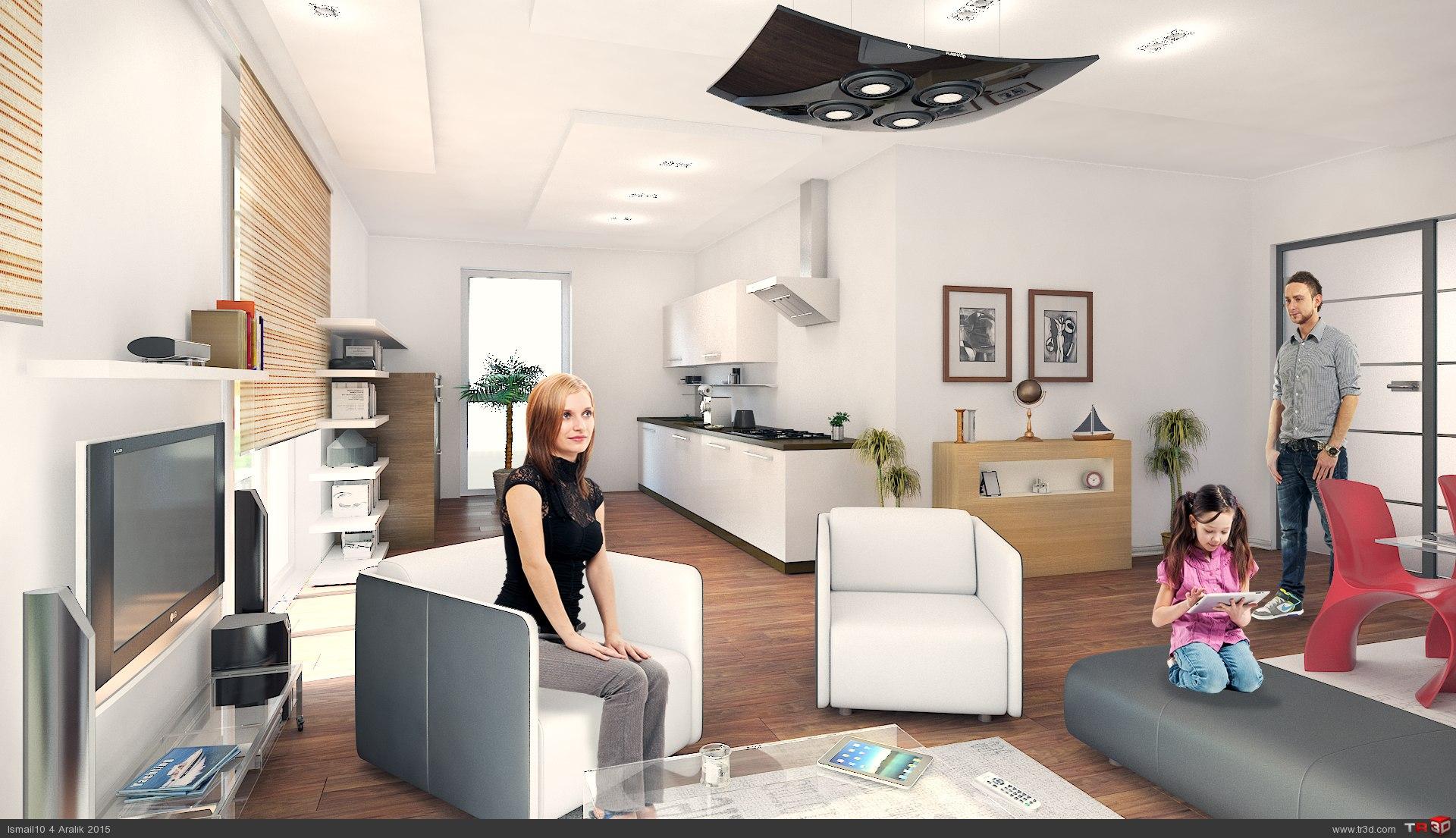 Almanya`da 17 daireli bina - ic mekanlar 1