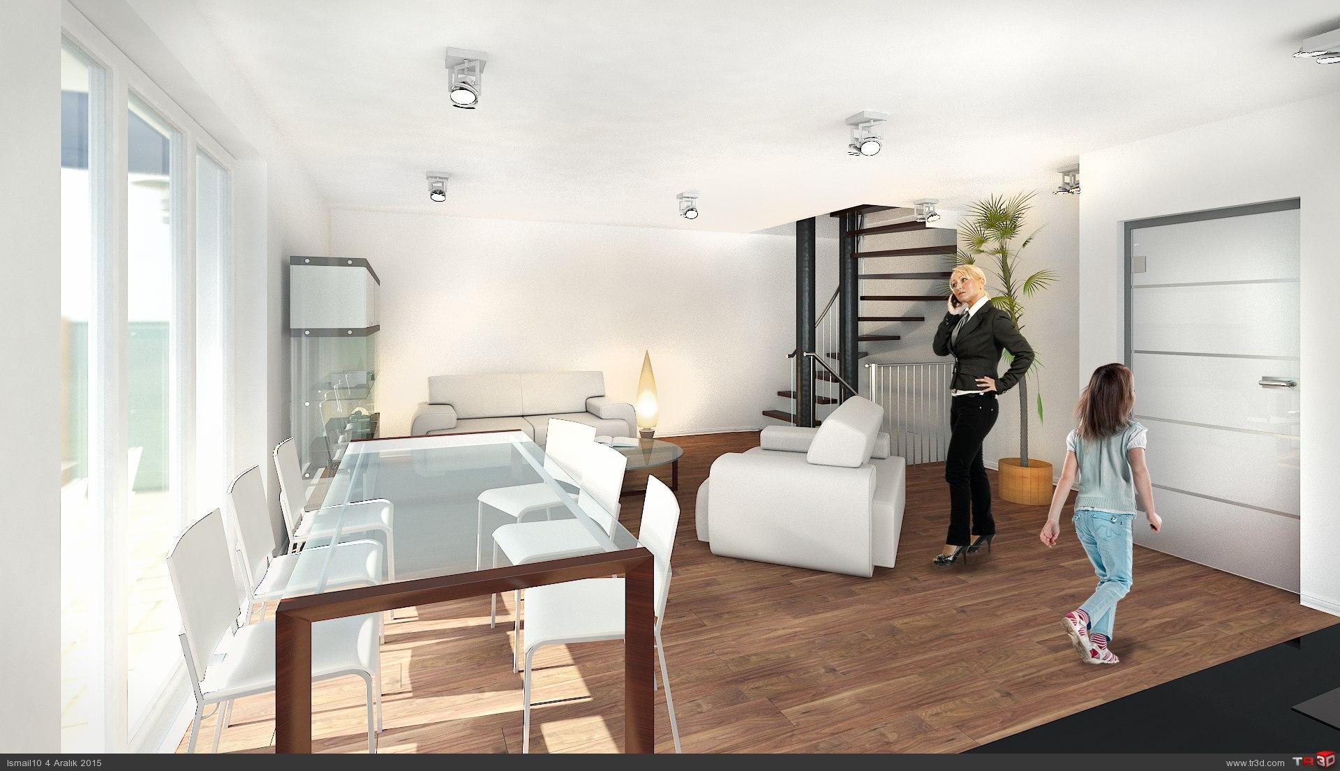 Almanya`da 17 daireli bina - ic mekanlar 5