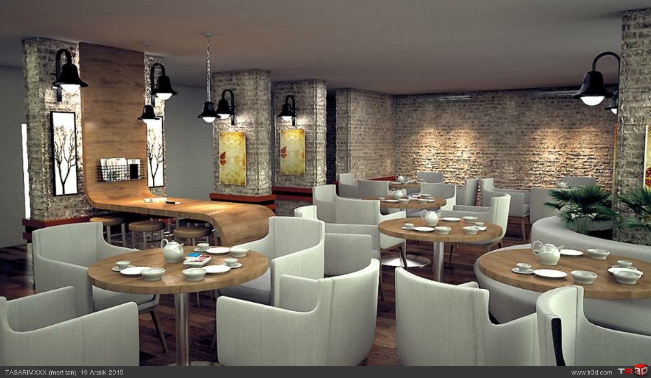 Cafe renderi 3