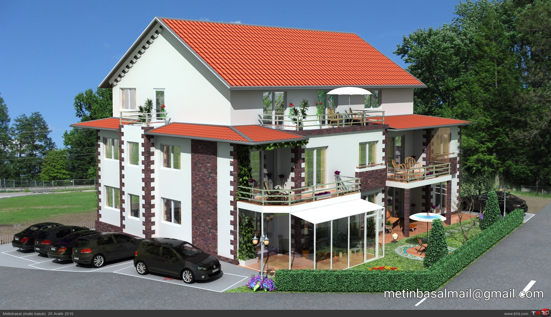 Germany villa modeling and design