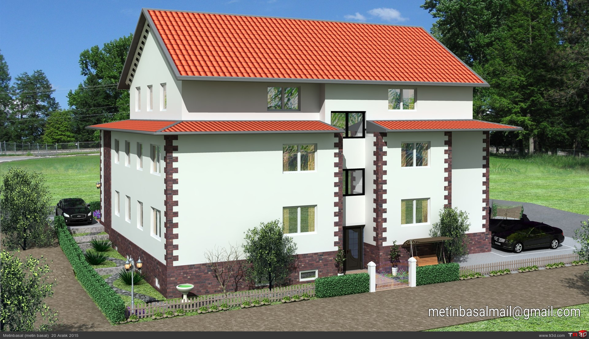Germany villa modeling and design 1