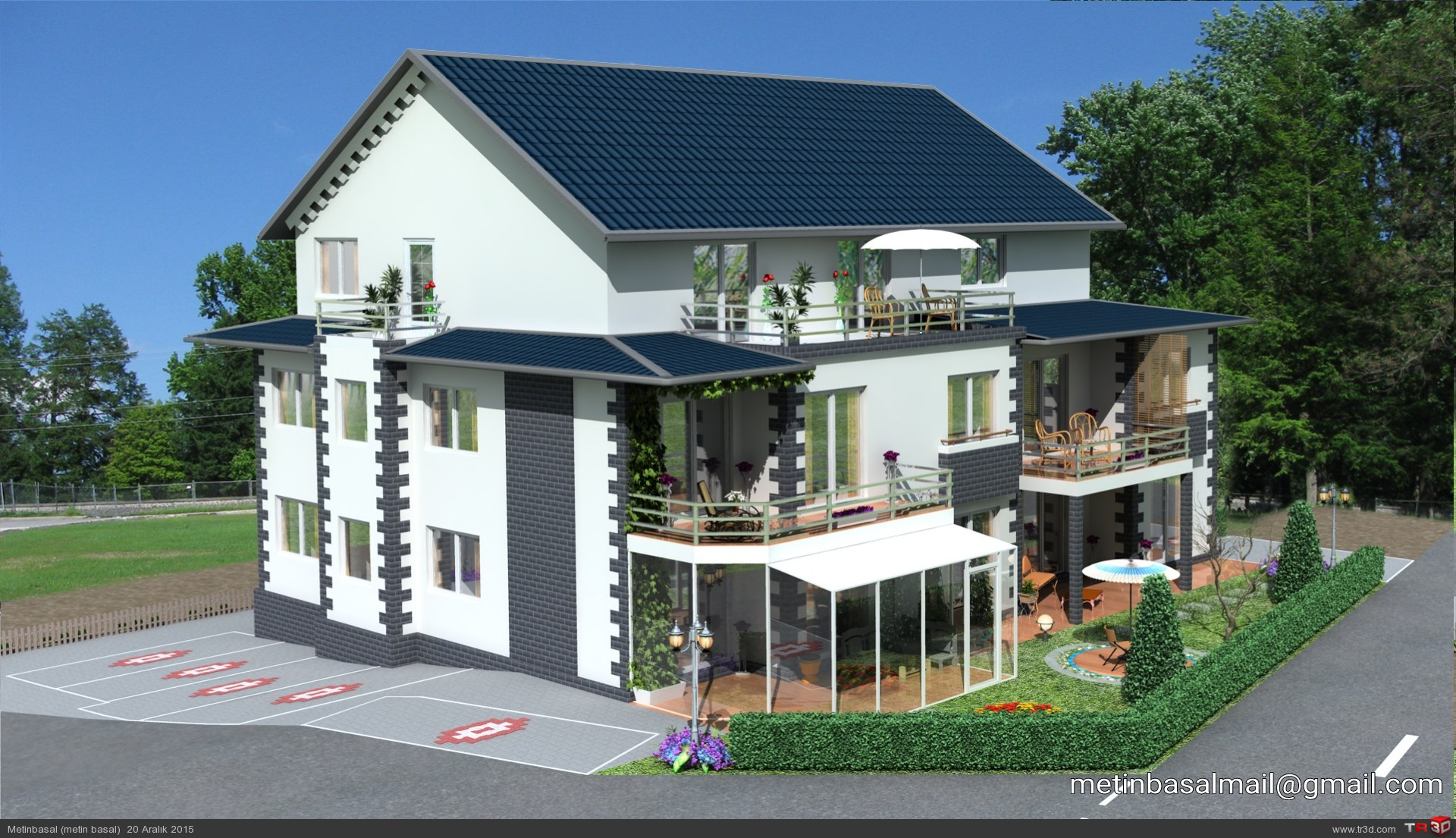 Germany villa modeling and design 2