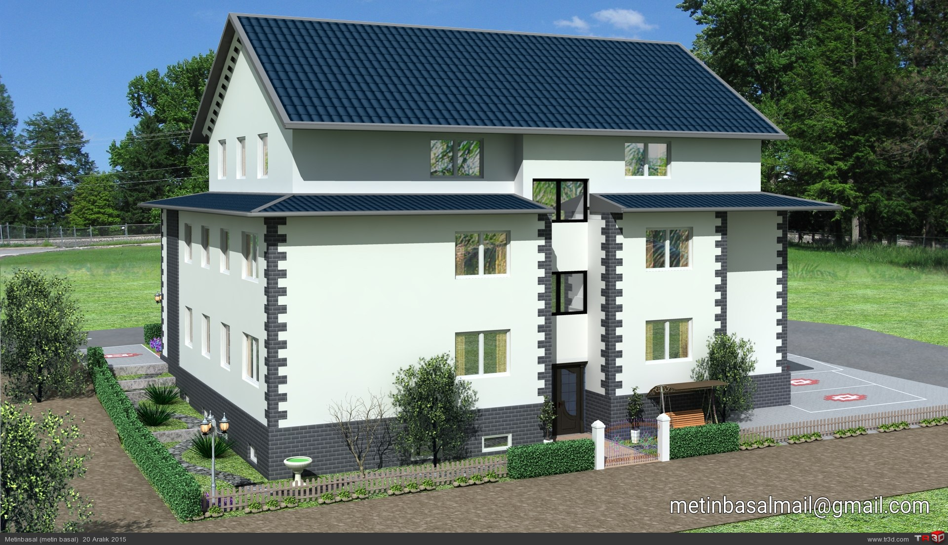 Germany villa modeling and design 3