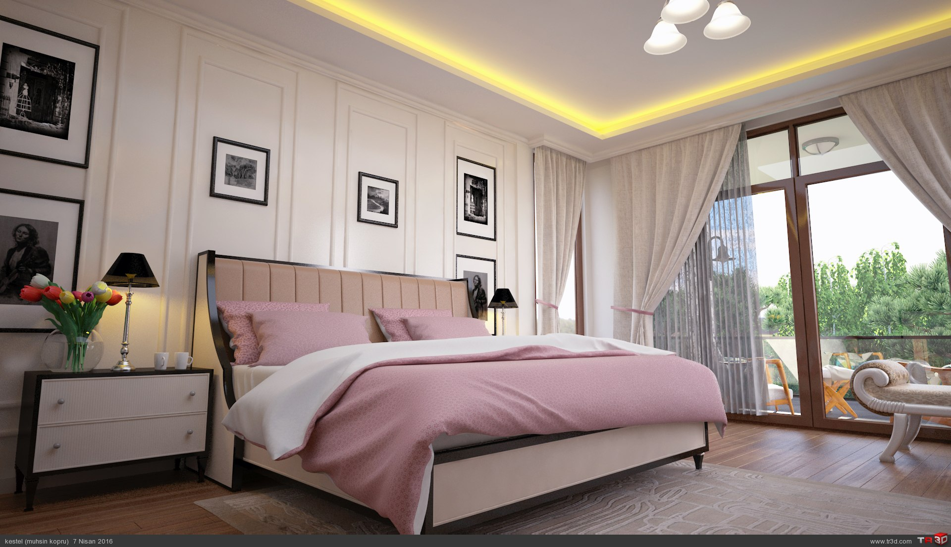 villa yatak odası