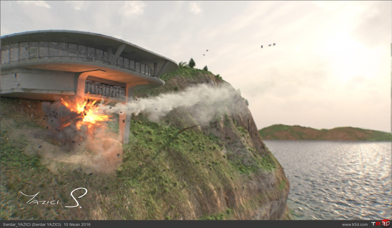 House Attack VFX Shot 2