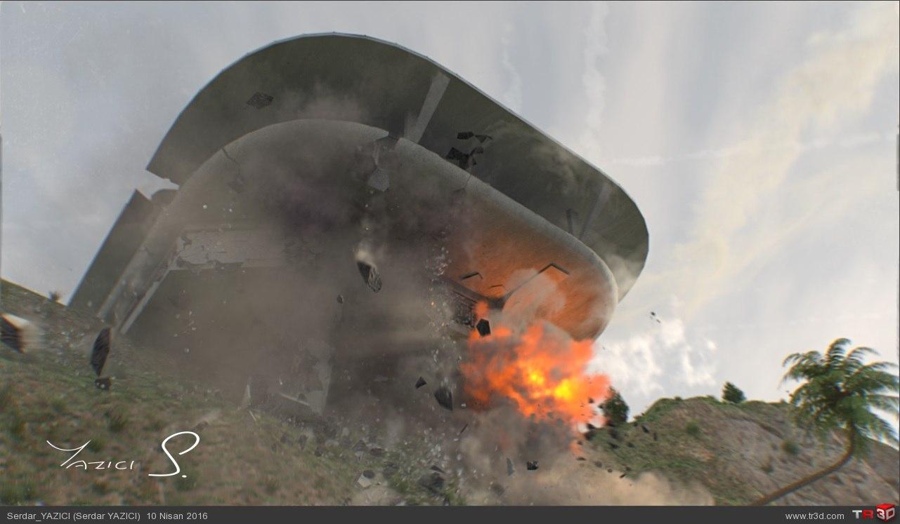 House Attack VFX Shot 3