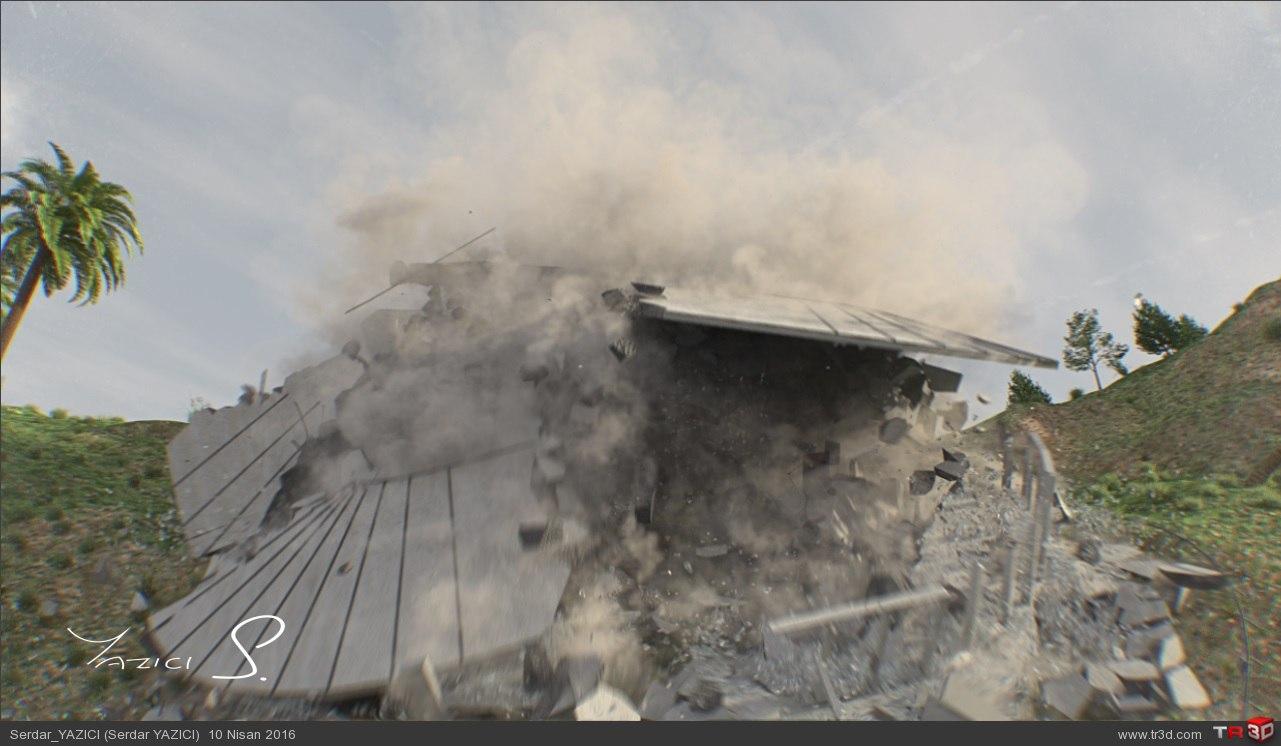 House Attack VFX Shot 4