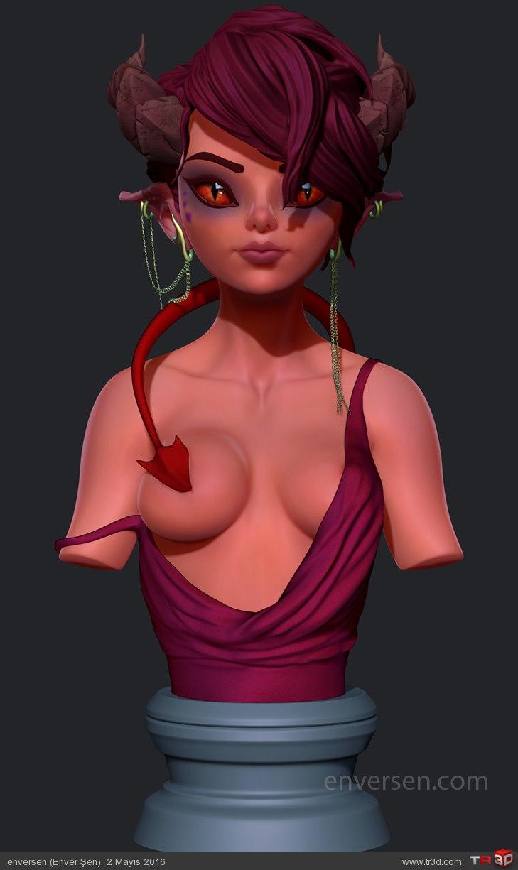 İblis Kız (Büst) 1