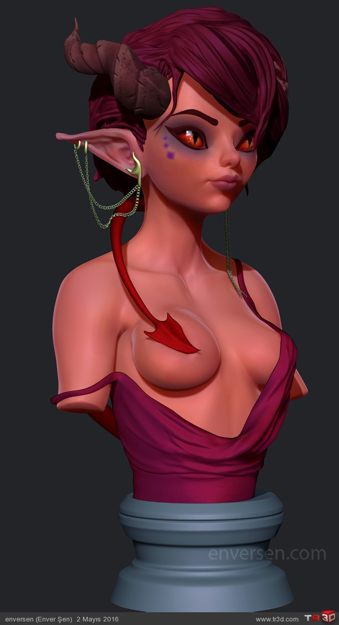 İblis Kız (Büst) 2