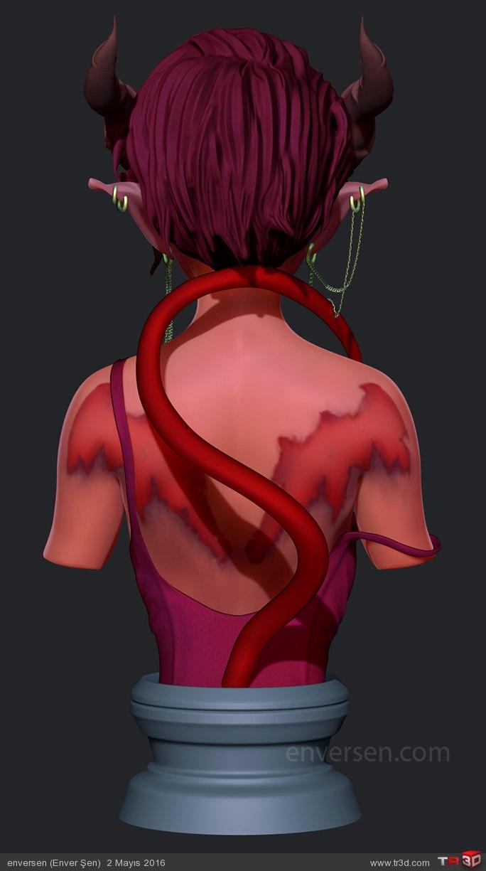 İblis Kız (Büst) 3