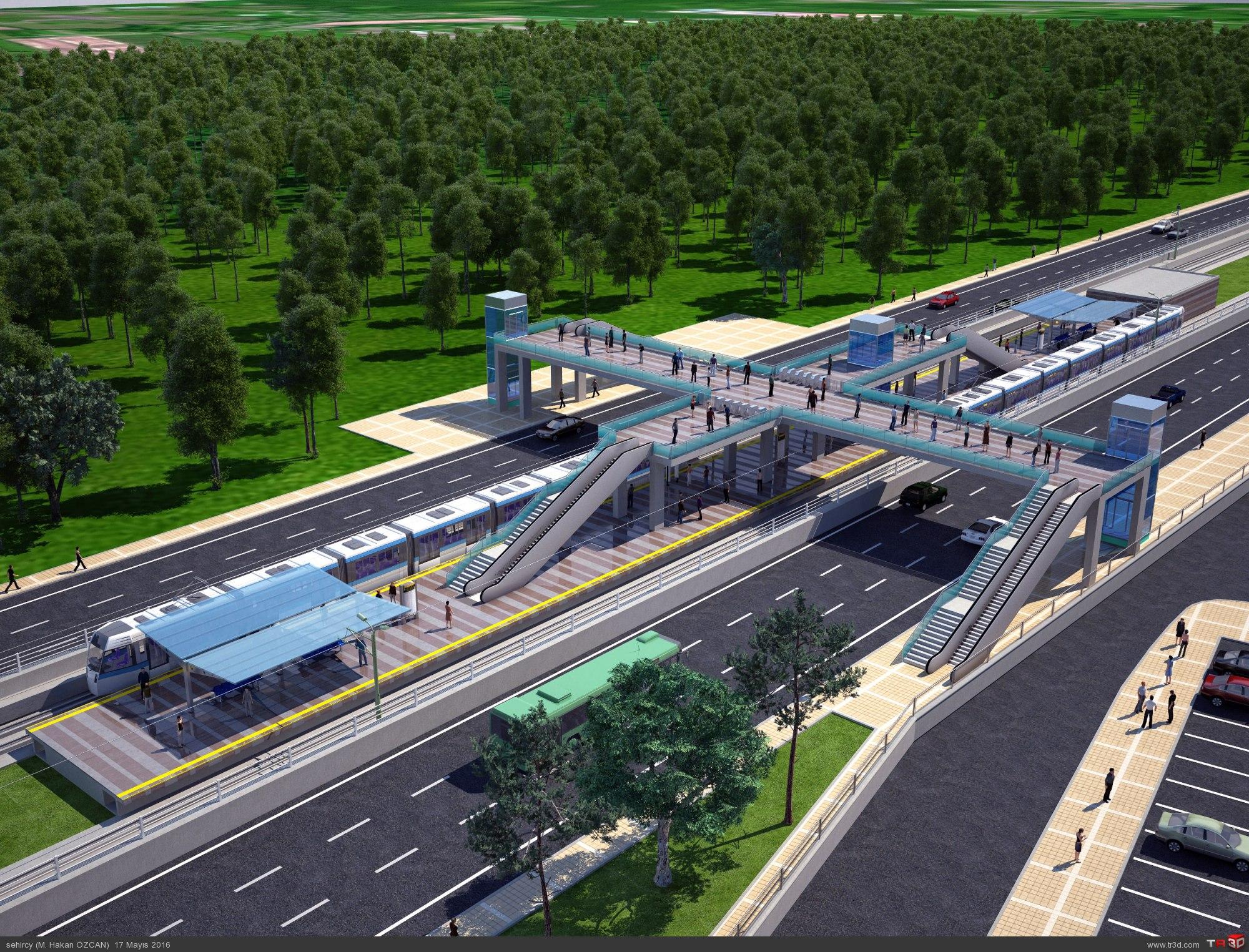 Hafif Metro sistemi.