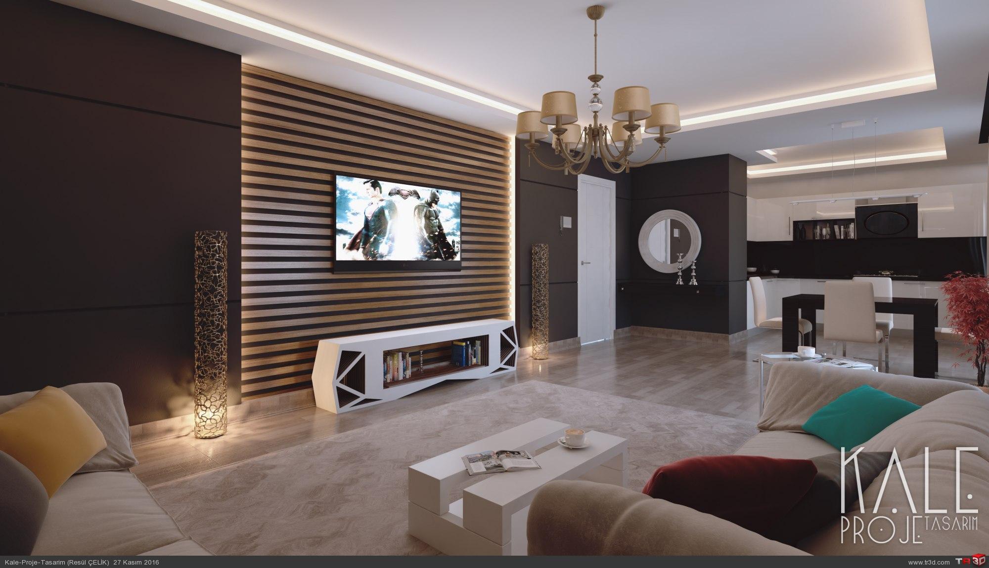 Çanakkale 2016 2+1 Salon + Mutfak tasarımı. 1