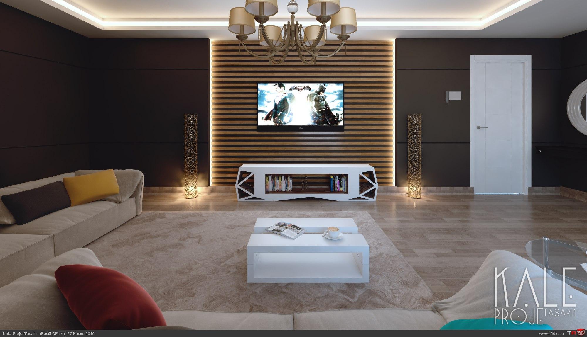 Çanakkale 2016 2+1 Salon + Mutfak tasarımı. 2