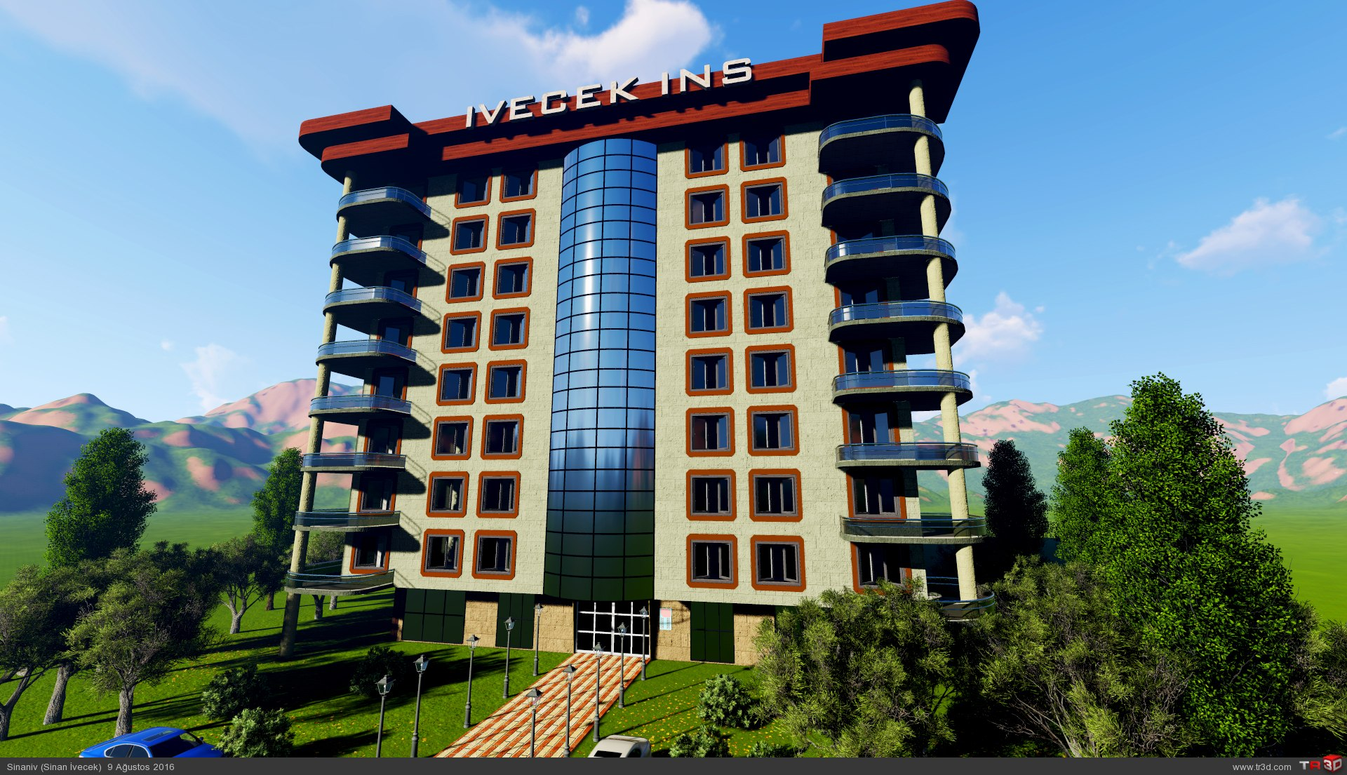8 katlı apartman modellemesi 1