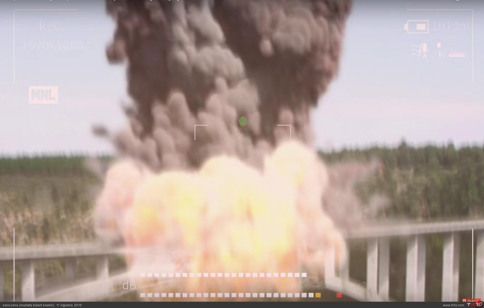 Köprüde büyük patlama