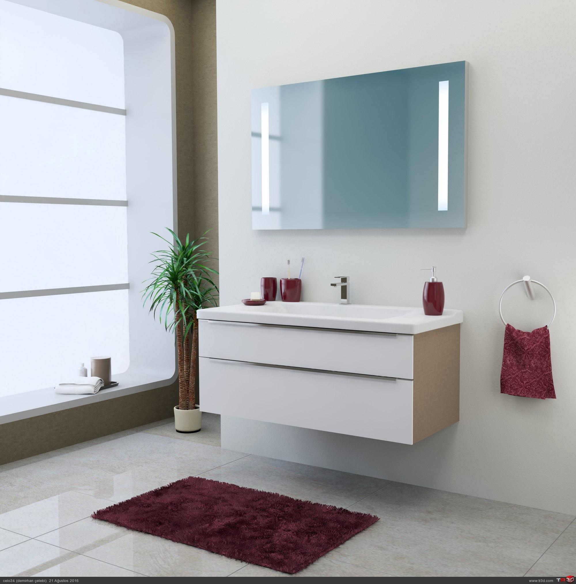 banyo 3d çalışması